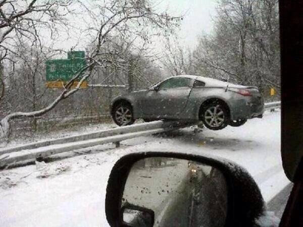 Snow drifting fail