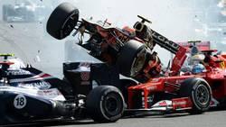 Formule 1 : Top 10 des crashs en F1  En savoir plus: http://www.chronofoot.com/formule-1/formule-1-top-10-des-crashs-en-f1_art43719.html Copyright © Gentside Sport
