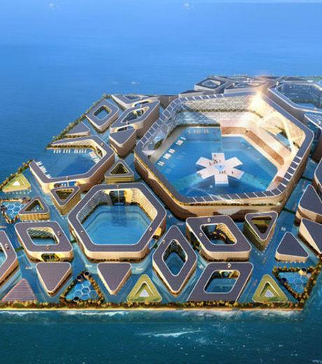 Floating City, le projet fou d'une ville flottante  En savoir plus: http://www.gentside.com/architecture/floating-city-le-projet-fou-d-une-ville-flottante_pic144917.html Copyright © Gentside